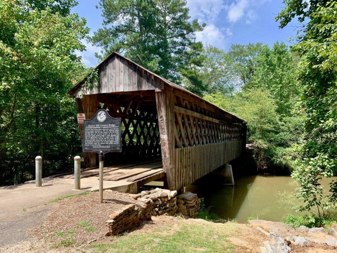 Pooles Mill Covered Bridge - North Georgia Swimming Holes & Waterfalls You Can Swim In