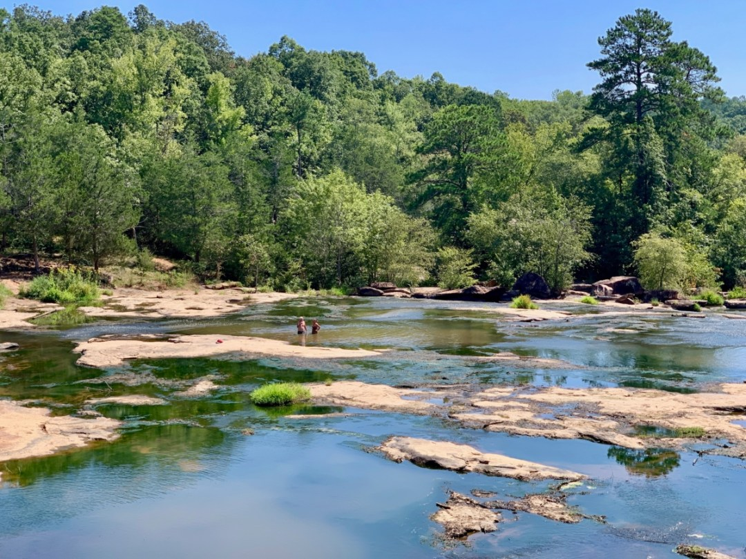 Shoals on South Fork River Georgia - North Georgia Swimming Holes & Waterfalls You Can Swim In