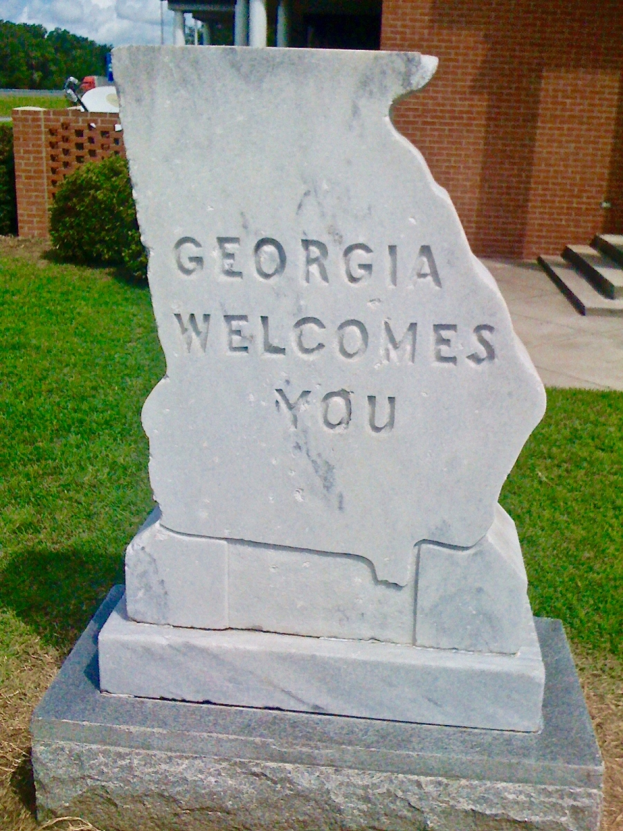 Georgia Welcomes You Sign - Design Your Own Georgia Road Trip (USA)