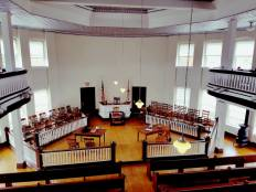 Monroe County Courthouse Museum Courtroom - balcony view