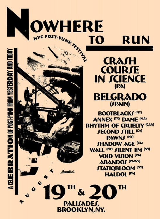 Nowhere To Run Fest Flyer