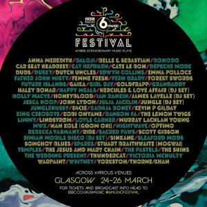 Promo image for BBC 6 Music Festival detailing lineup