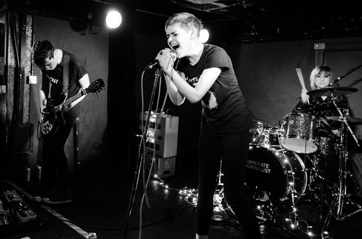 Desperate Journalist on stage at Nice N Sleazy, Glasgow, 31 March 2017