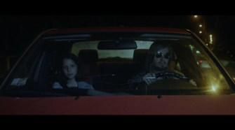 a car ride at night