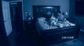 Katie and Micah filming themselves as they sleep