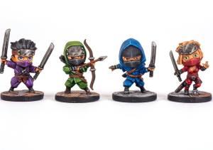 Ninja Squad chibi miniatures