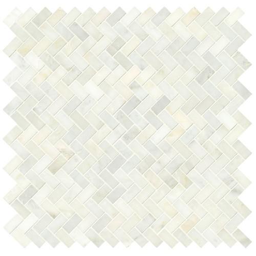 greecian white herringbone pattern 12x12 polished