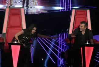 Δέσποινα Βανδή και Αντώνης Ρέμος στο The Voice