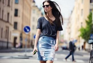 Denim φούστα  3 τρόποι για να φορέσεις τη (και πολλοί άλλοι να εμ. 2301f119240