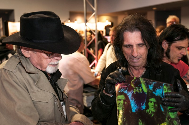 Duane Eddy and Alice Cooper at NAMM - Image by Brian Tierney / Rolling Stone