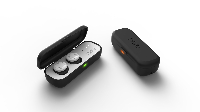 The Here Active Listening System(TM) is the first in-ear system designed to let you instantly control and personalize your live audio environment. Here consists of two wireless, in-ear buds and a connected smartphone app that give you control of any live listening experience. (PRNewsFoto/Doppler Labs)