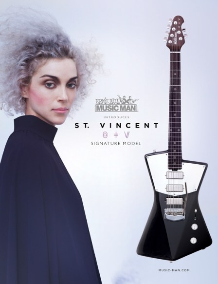 Ernie Ball Music Man Announces New St. Vincent Signature Guitar (PRNewsFoto/Ernie Ball)