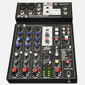 Peavey PV® 6 and PV® 6 BT Mixing Consoles