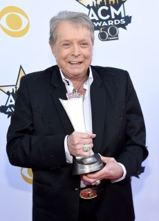 Mickey Gilley, winner of the Triple Crown Award, attends the 50th Academy Of Country Music Awards at AT&T Stadium on April 19, 2015 in Arlington, Texas.  (Photo by Rick Diamond/ACM2015/Getty Images for dcp)