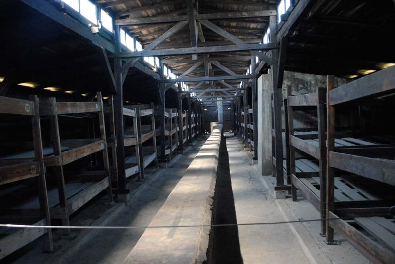 Auschwitz bunks Krakow Poland