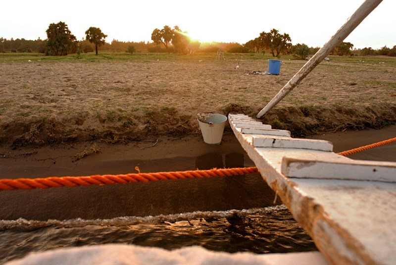 By the banks of the Egyptian Nile on our felucca