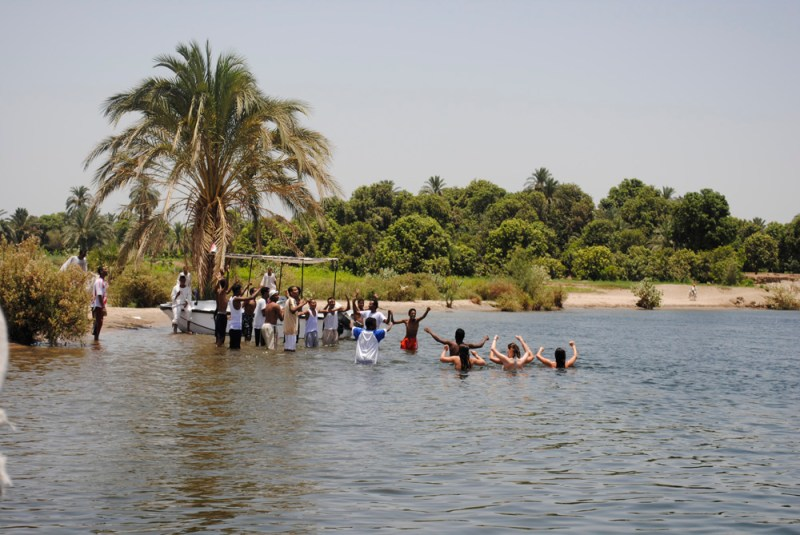 Nubian locals along the Nile