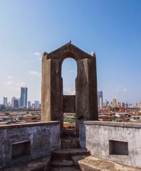 Worli Fort overlooking the Bombay skyline