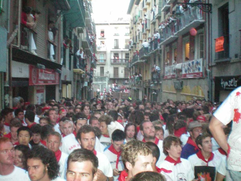 Packed in tight at San Fermin