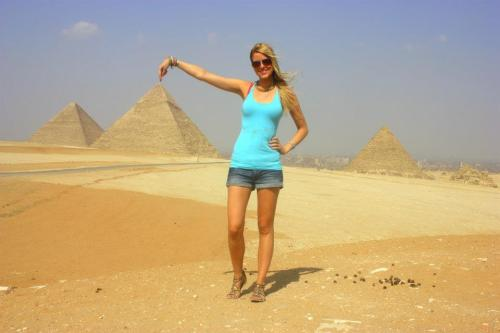 Asa of From Ice to Spice - Egypt Pyramids