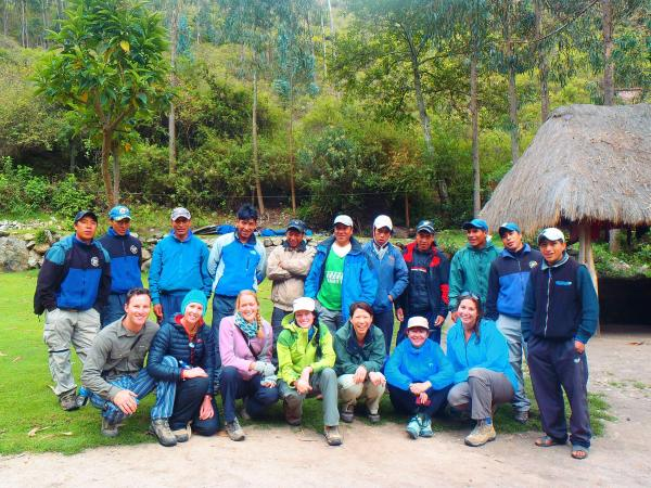 Group shot with porters on the Inca Trail