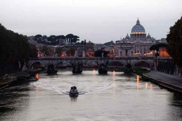 Rome Italy at sunset