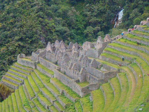 Ruins along the Inca Trail hike, Peru