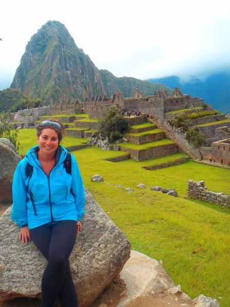 Simone at Machu Picchu, Peru