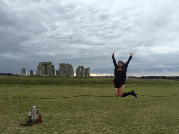 Justine at stonehenge