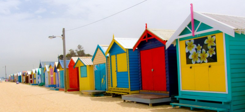 Brighton Beach bath houses Melbourne