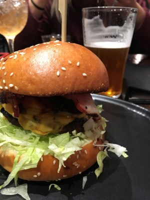 Meatmaiden Wagyu burger on Little Collins St Melbourne