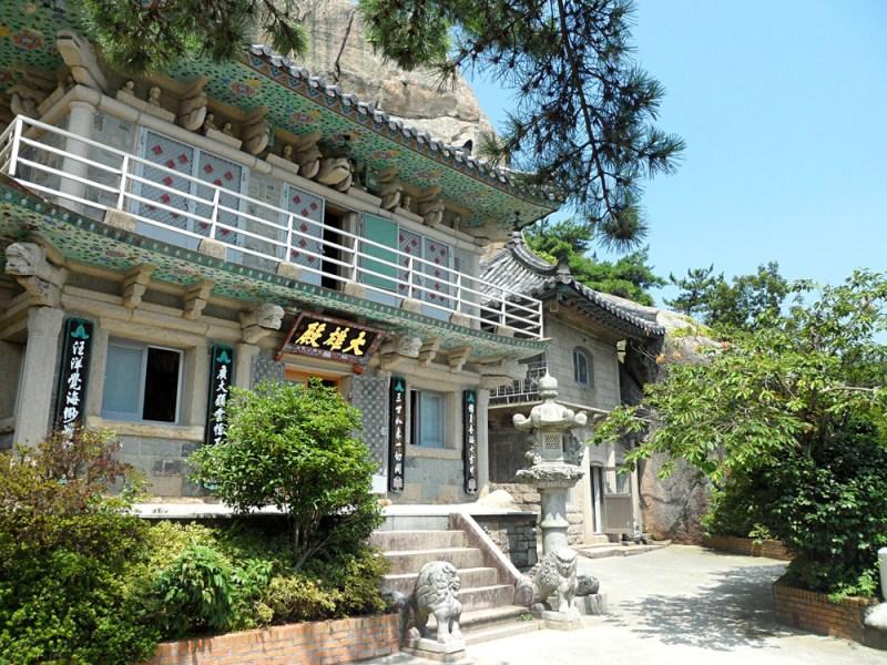 The temple at seokbulsa hiking trail Korea