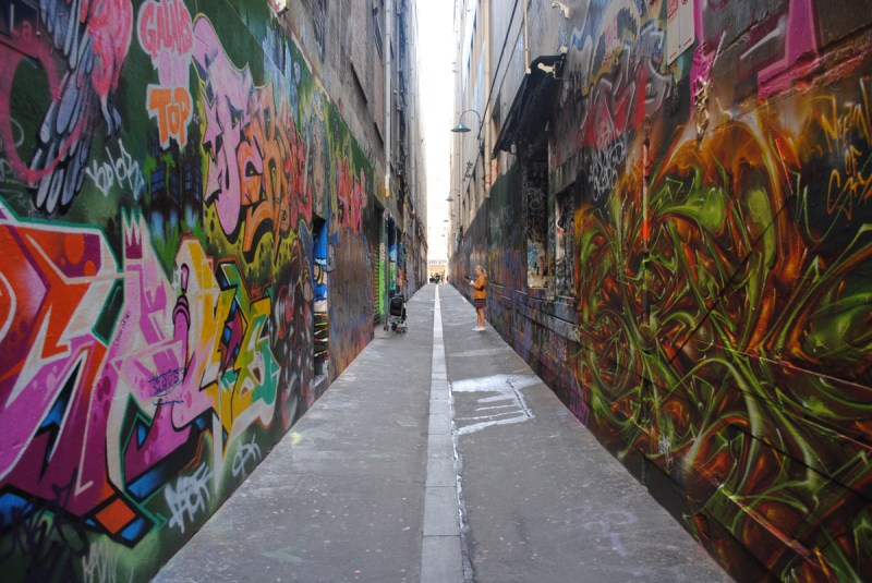 Union Lane grafitti art Melbourne