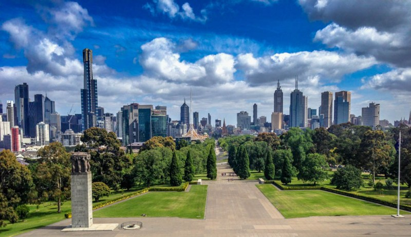 View from the Shrine of Remembrance Melbourne
