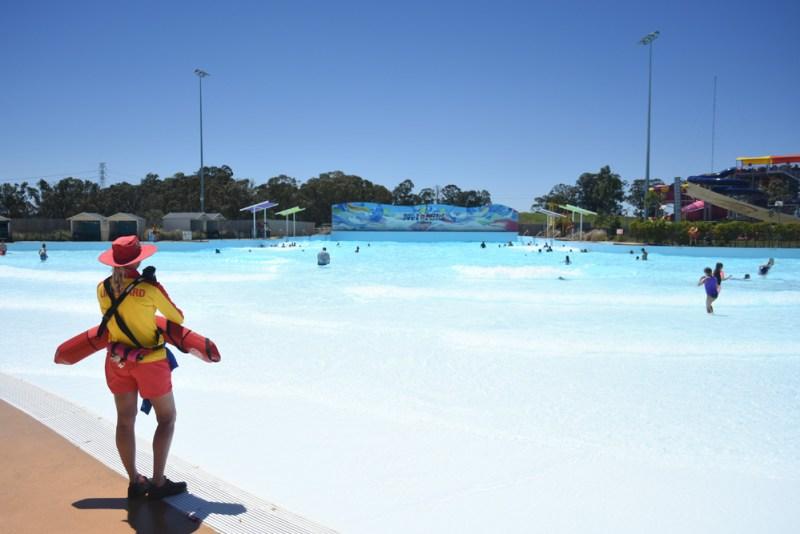 Wave pool at Wet n Wild Sydney