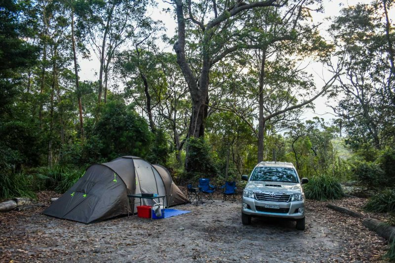 Green Patch D Campground Booderee National Park, Jervis Bay, NSW our site