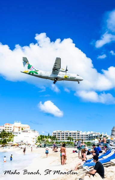 Maho Beach, St Maarten. How to spend one day ashore St Maarten.