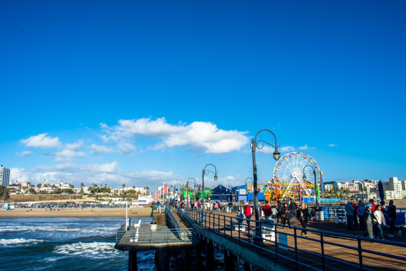 Santa Monica Pier and beach LA