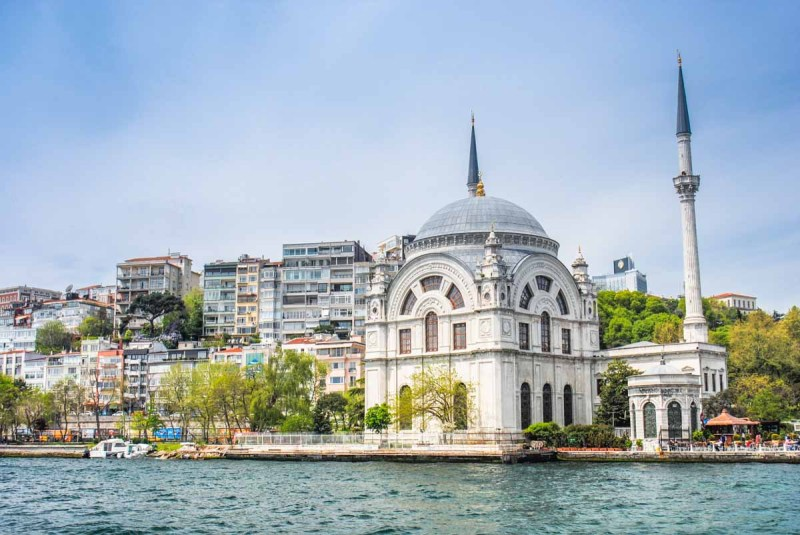 Beautiful buildings along the Bosphorus