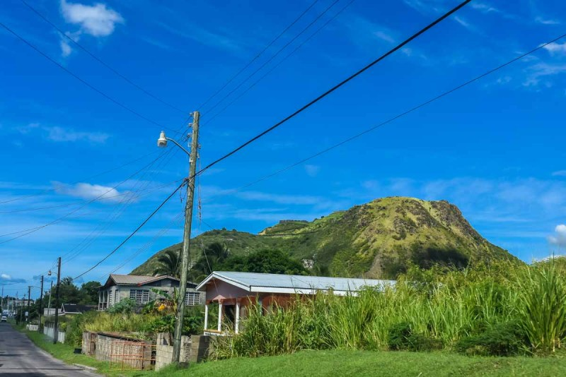 Along the ring road on St Kitts