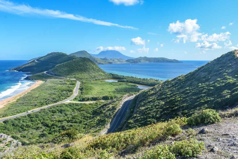 View looking south from Sir Timothy's Hill St Kitts