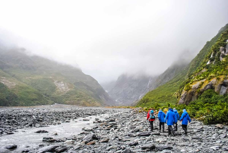 Franz Josef glacier hike in the rain