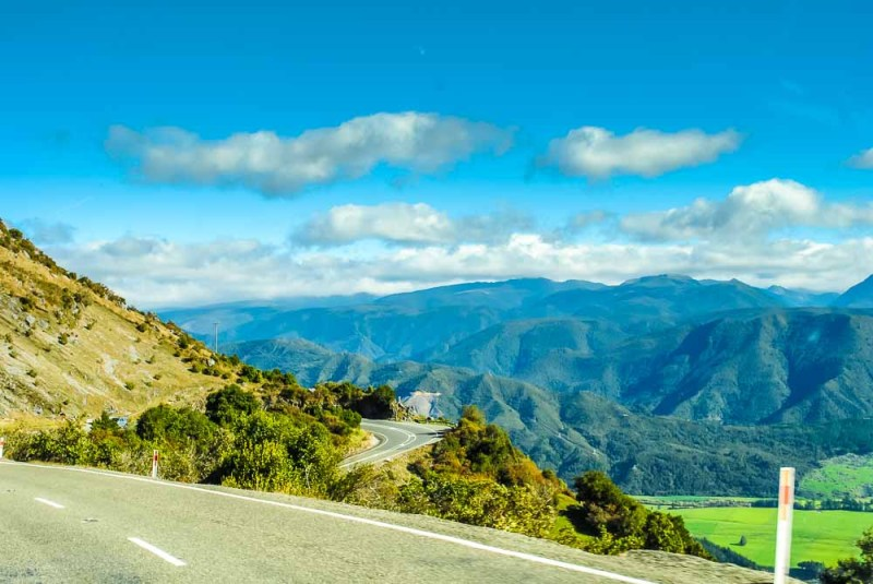 Highway 60 over Takaka Hill New Zealand