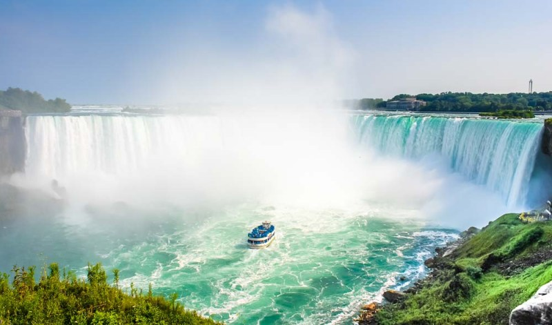 Niagara Falls with the Maid of the Mist