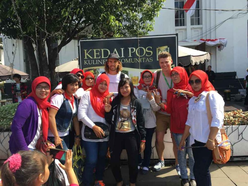 Selfies with the Indonesians in Jakarta Kota Tua