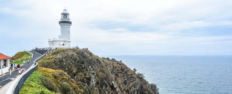 byron bay lighthouse on cape byron, Australia's east coast