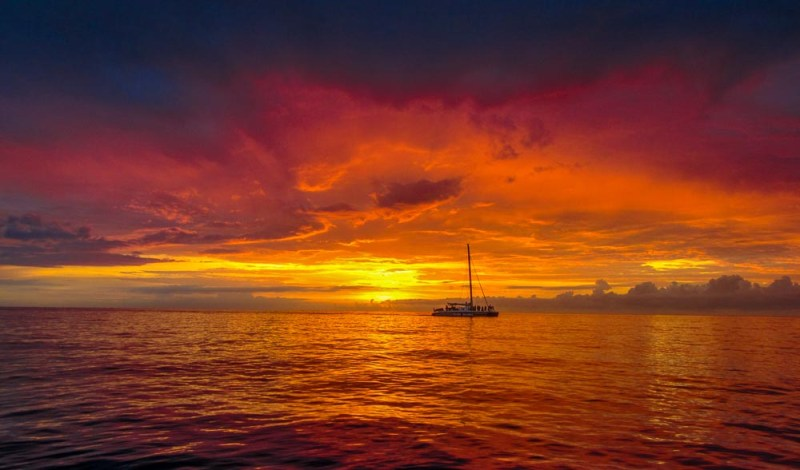 Incredible sunset over Negril Jamaica
