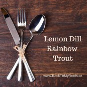 Baked Lemon Dill Rainbow Trout Filet