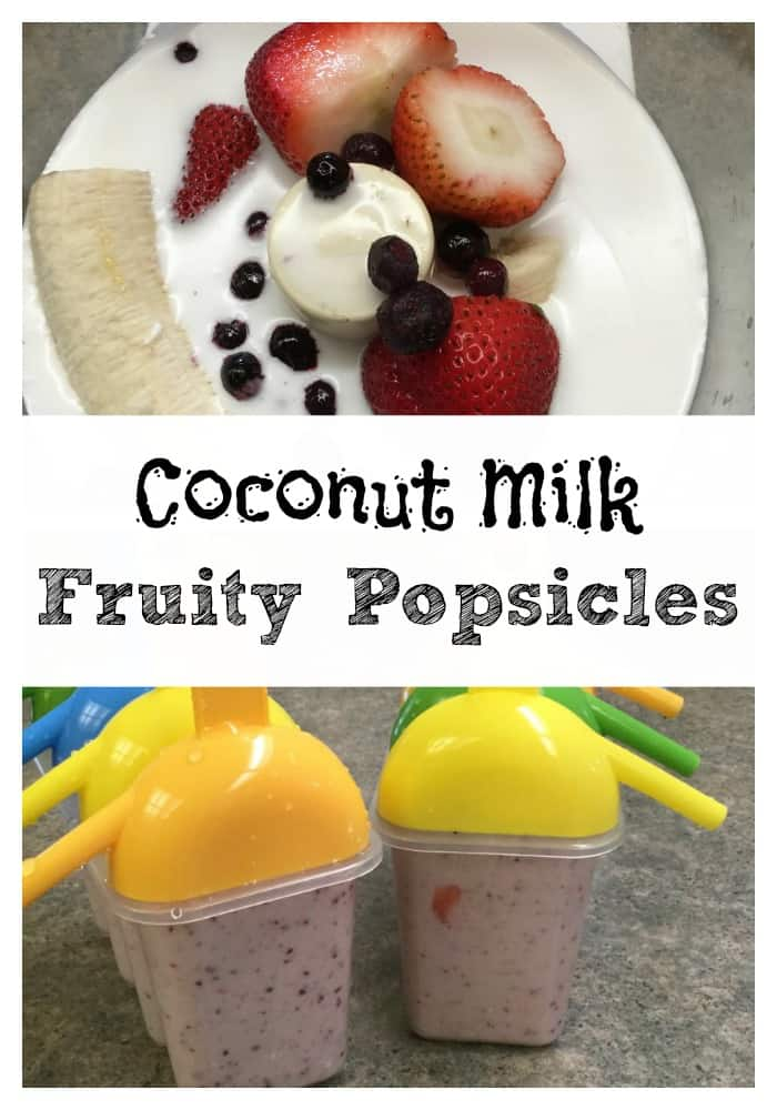 Popsicles are a great way to get fruit into your kids. The mix of fruit, coconut milk, and honey are a sweet treat, and easy to make. Just put everything in your Cuisinart and blend it up. Freeze the pops and the kids will come running from all over to get one (or more) of your fruit popsicles.