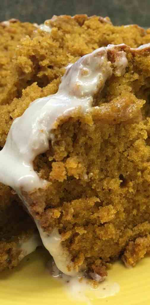 This has to be one of the best pumpkin bread recipes out there. This recipe is great without the icing, if you're looking for a simple and easy bread, or even more decadent with the icing. Pumpkin bread is great recipe for the fall, and this one is easy to make.